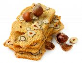 Biscotti with  nuts, isolated on white