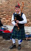 stock photo of bagpiper  - VENICE - JPG