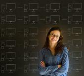 Businesswoman Student Teacher Chalk Networks