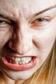 Stress Concept - Closeup On Angry Displeased Woman