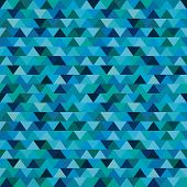 Sameless Zig Zag Triangle Pattern On Paper Texture