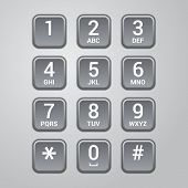 foto of dial pad  - User interface keypad for phone - JPG