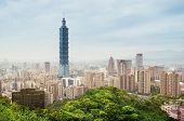 Taipei Skyline, Taiwan.