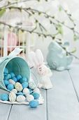 Basket Of Easter Candy Eggs