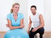 Fitness Instructor And Woman