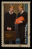 UNITED STATES - CIRCA 2013: postage stamp printed in USA showing an image of Fred and George Weasley