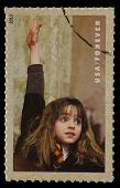 UNITED STATES - CIRCA 2013: postage stamp printed in USA showing an image of Hermione Granger, a Harry Potter main characters, circa 2013.