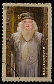 UNITED STATES - CIRCA 2013: postage stamp printed in USA showing an image of Albus Dumbledore a Harry Potter main character, circa 2013.