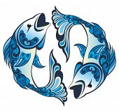 foto of pisces  - Zodiac sign - JPG
