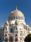 Orthodox Naval cathedral of St. Nicholas in Kronshtadt Saint-petersburg Russia