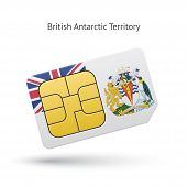 British Antarctic Territory phone sim card with flag.