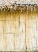 Thatched Roof And Bamboo Wall