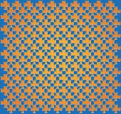 stock photo of trapezoid  - background or paper blue and orange abstract trapezoidal pattern - JPG