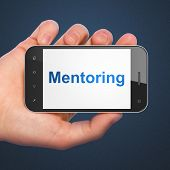 Education concept: Mentoring on smartphone