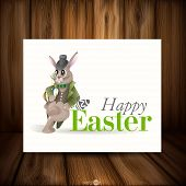Easter Background With Bunny.