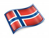 Norwegian Flag Icon.