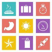 Color icons for Web Design set