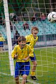 picture of children playing  - Children playing football  - JPG