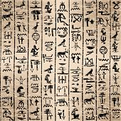 stock photo of hieroglyphs  - Egyptian hieroglyphics grunge background - JPG