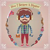 Hipster boy poster