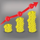 Financial Bar Chart Diagram
