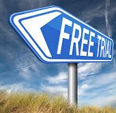 try now for free trial membership or product promotion