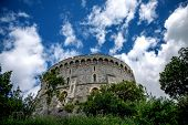 The round tower at Windsor castle in Berkshire.