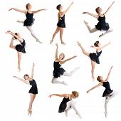 ballet dancers isolated on white set