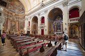 DUBROVNIK, CROATIA - MAY 28, 2014: Inside of Jesuit church of St. Ignatius. The church and collegium
