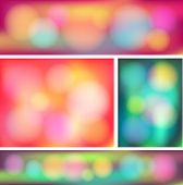 Colorful Abstract Bokeh Banner Collection Set (vector)
