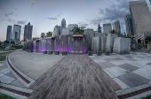 August 29, 2014, Charlotte, Nc - View Of Charlotte Skyline At Night Near Romare Bearden Park