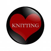I Love Knitting Button