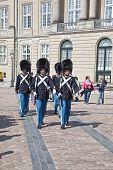 Denmark. Copenhagen. Changing Of The Guard Of The Amalienborg Palace.