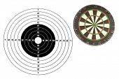 dartboard under the white background