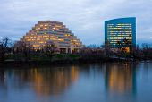 picture of ziggurat  - Office Buildings at night in Sacramento - JPG
