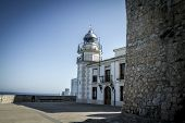 Light house, Tourism, spanish landscape with deep blue sea andmediterranean  architecture