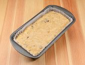 Banana Bread Batter In A Loaf Tin