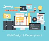 Постер, плакат: Web Design And Development