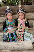 stock photo of hmong  - Girls from Asia Hmong - JPG