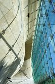 Futuristic Hall In Museum Of History Of Polish Jews In Warsaw.