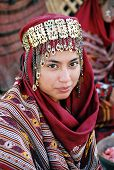 Ashgabat, Turkmenistan - October 22.  Portrait Of  Young  Unidentified  Asian Woman. Woman In Tradit