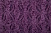 Purple knitted texture