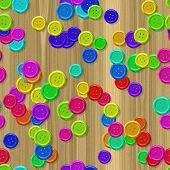 Sewing Buttons With Seamless Generated Texture Background