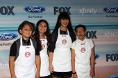 LOS ANGELES - SEP 8:  Masterchef Jr Contestants:  Sam, Berry, Natalie, Sean at the 2014 FOX Fall Eco