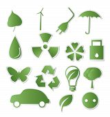 Collection of green eco-icons for your design
