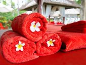 Red Towels For Spa Treatment