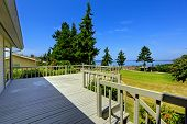 Spacious Walkout Deck With Beautiful Water View