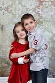 Brother and Sister in Studio