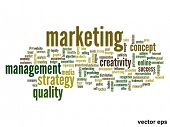 Vector eps concept or conceptual abstract marketing word cloud or wordcloud isolated on white backgr