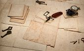 Vintage Accessories, Antique Ink Pen, Old Cards